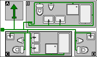 rohrnetzberechnung trinkwasser berechnen. Black Bedroom Furniture Sets. Home Design Ideas